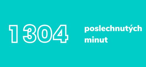 1304 poslechnutých minut